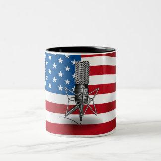 Mikrofon USA Två-Tonad Mugg