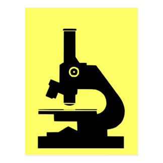 Mikroskop Vykort