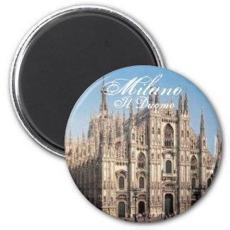 Milano_Duomo Milano, Il Duomo Magnet Rund 5.7 Cm