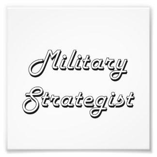 Militär design för strategklassikerjobb fototryck
