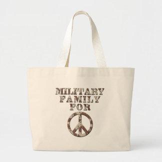 Militär familj för fred kassar