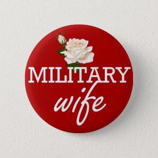 Militär fru-vit ro standard knapp rund 5.7 cm