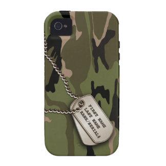 Militär gröna Camo med hundmärkren
