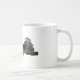 Militär halv BulldozerFlatbedtecknad Kaffemugg