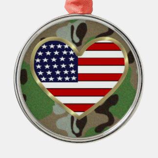 Militär kärlek julgransprydnad metall