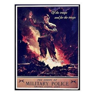 Militär polis vykort