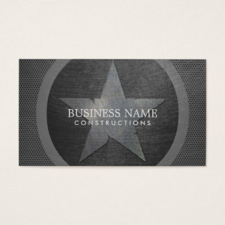 Militär professionell för stjärnaGrungemetall Visitkort