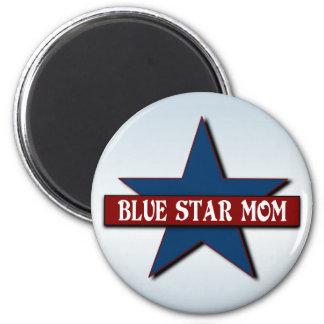 Militär service för blåttstjärnamamma magnet rund 5.7 cm