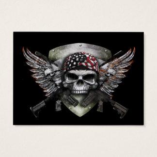 Militär skalle med korsat vapensakkunnigkrig visitkort