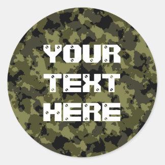 Militär stil för kamouflage runt klistermärke