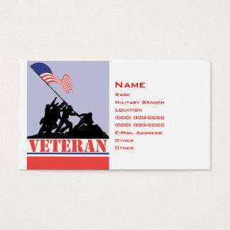Militär veteran visitkort