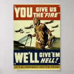 Militär vintage ger dem helveteaffischen posters