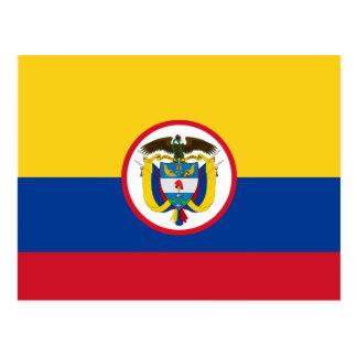 Militära Colombia, Colombia flagga Vykort