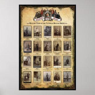 Militära typer av Victorianbrittväldet Poster