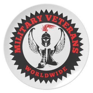 Militära veteran över hela världen tallrik