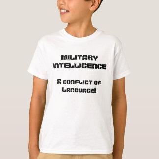 Militärt intelligensskämt tee shirts