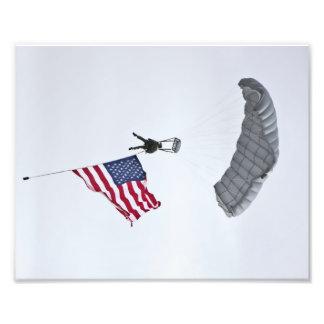 Militärt tryck för fallskärmgrabbfoto fototryck