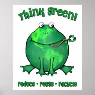 Miljö- groda för jorddag poster