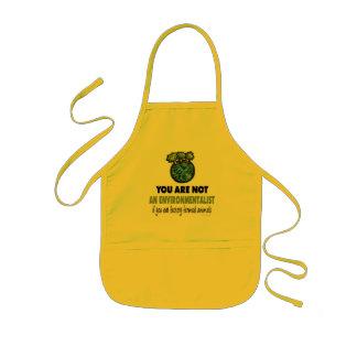 Miljöaktivist = Vegan, vegetarian Barnförkläde