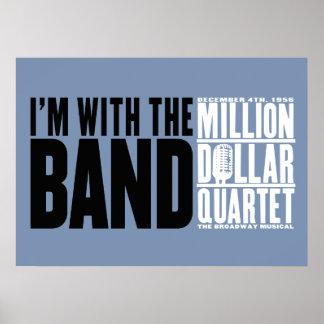 """Miljon dollarkvartett """"mig förmiddag med musikband poster"""