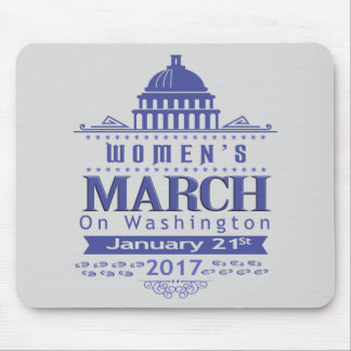Miljon kvinna mars på Washington Mousepad 2017 Mus Matta