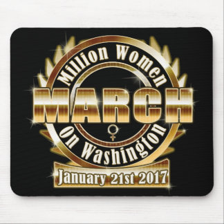 Miljon kvinna mars på Washington Mousepad 2017 Musmatta