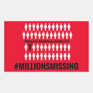 Miljonersaknadklistermärkear Rektangulärt Klistermärke