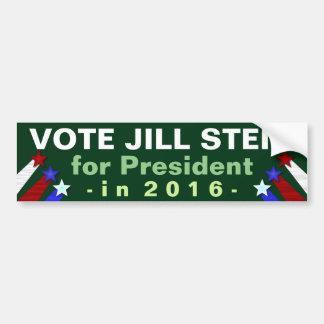 Miljöpartiet 2016 för Jill Stein presidentval Bildekal