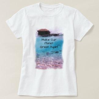 Miljöskyddklimatförändringmedvetenhet Tee Shirt