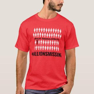 #MillionsMissing manar T-tröja Tshirts