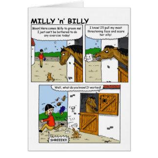 Milly och Billy 'spider Hälsningskort