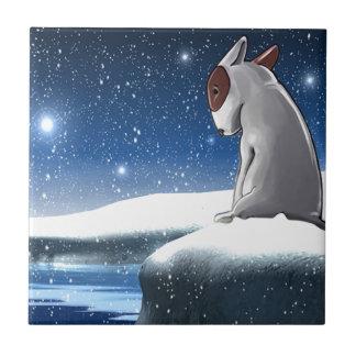 Milo i snön kakelplatta