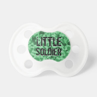 Miltary grön Camo lite soldatpojke Binky Napp