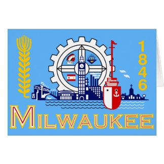 Milwaukee Wisconsin, United States sjunker Hälsningskort