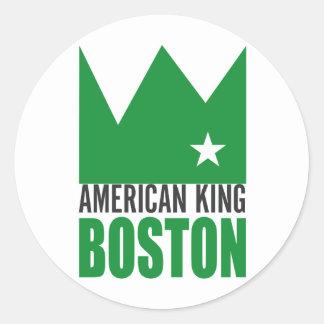 MIMAREklistermärke - amerikankung av Boston