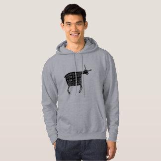 Mimbres krukmakeridesign tröja med luva
