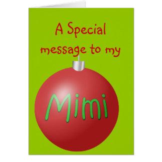 Mimi julprydnadkort hälsningskort
