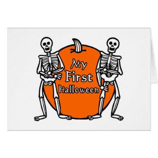 Min 1st Halloween Hälsnings Kort
