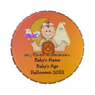 Min 1st Halloween jätte- runda formade godisTin Godisburkar Av Jelly Belly