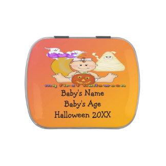 Min 1st Halloween Rektangel-Formade godisTin Jelly Belly Godisburk