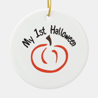 Min 1st Halloween Rund Julgransprydnad I Keramik
