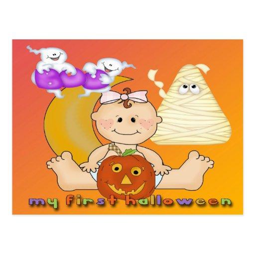 Min 1st Halloween vykort