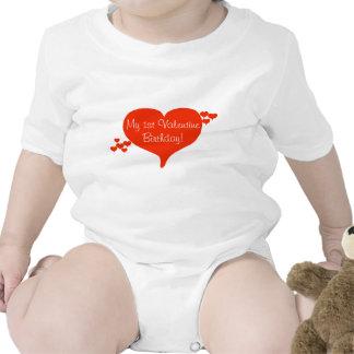 Min 1st T-tröja för valentinfödelsedaghjärta