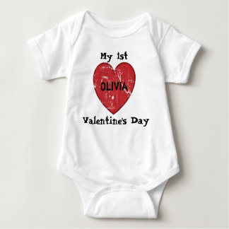 Min 1st valentin namn för dagpersonlig t-shirts