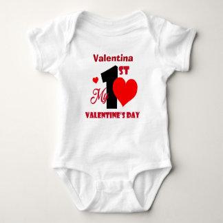Min 1st valentin namn för dagpersonlig tröjor