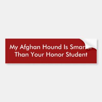 Min afghanska hund är SmarterThan din hederstudent Bildekal