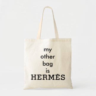 """Min annan är Bag den Hermès"" kanfastotot Budget Tygkasse"