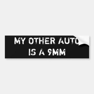 min annan automatisk är 9mm bildekal