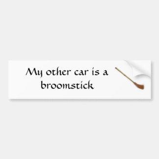 Min annan bil är en broomstick bildekal