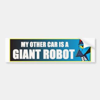 Min annan bil är en jätte- robot bildekal